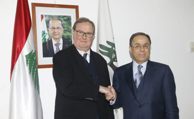 Minister Mansour Bteich meets a French Delegation