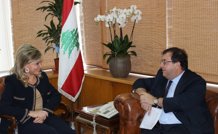 Minister May Chidiac meets French Ambassador
