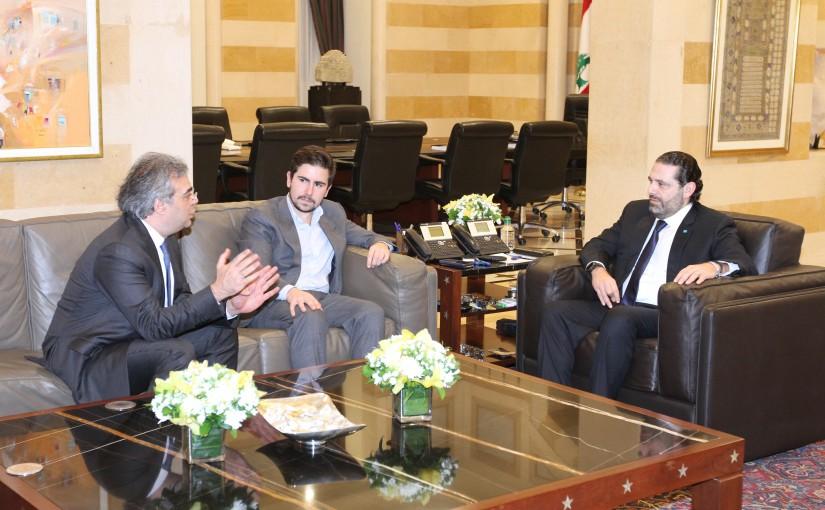 Pr Minister Saad Hariri meets Mr Antoni Carlos Ghossen