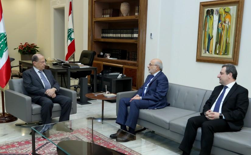 President Michel Aoun meets Minister Akram Chehayeb & Minister Wael Abou Faour.