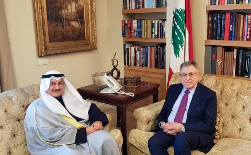 Former Pr Minister Fouad Siniora meets Kuwait Ambassador