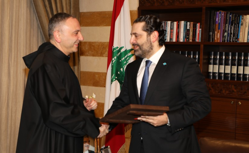 Pr Minister Saad Hariri meets a Delegation from Antonin University