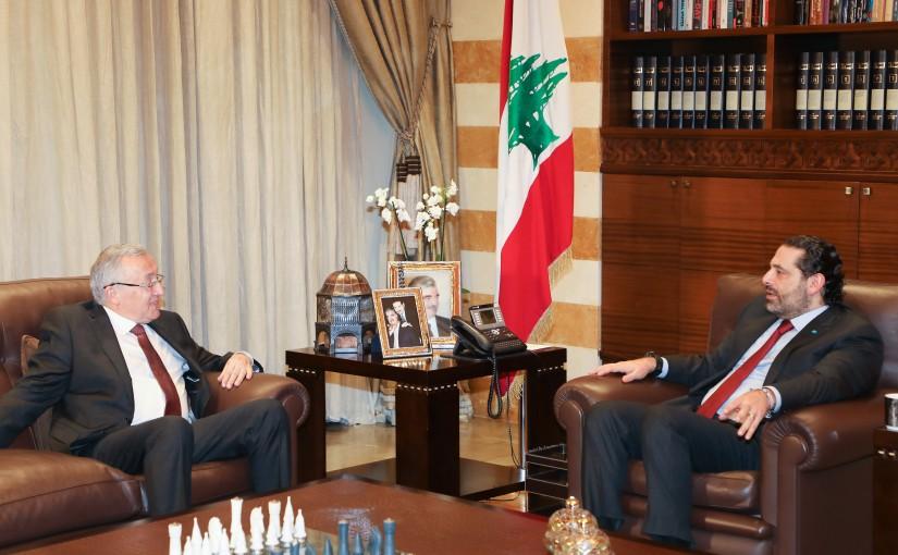Pr Minister Saad Hariri meets Former MP Ahmad Fatfat