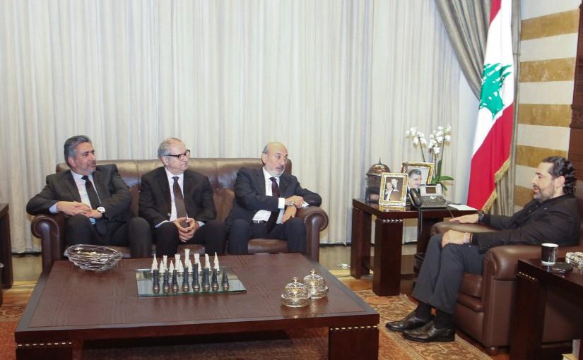 Pr Minister Saad Hariri meets a Delegation from Al Hekme  lub