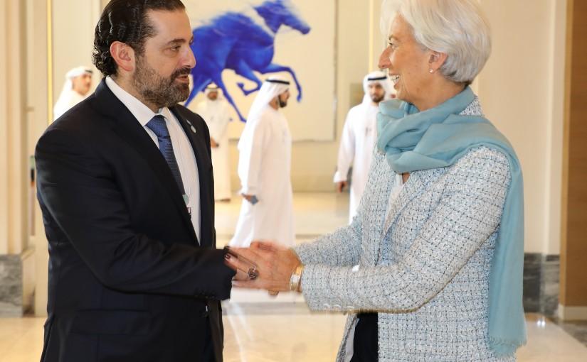 Pr Minister Saad Hariri meets Mrs Ghristine Lagarde