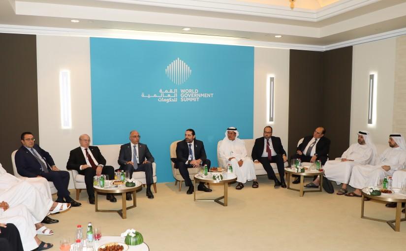 Pr Minister Saad Hariri meets a Delegation from Emirates Busnissman