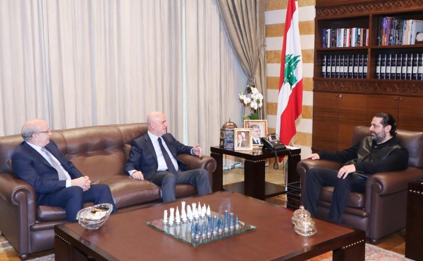 Pr Minister Saad Hariri meets Minister Yousef Phenianos