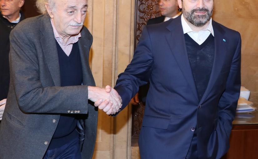 Pr Minister Saad Hariri meets MP Walid Jounblat