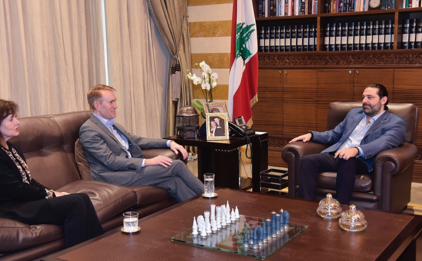 Pr Minister Saad Hariri meets a US Delegation