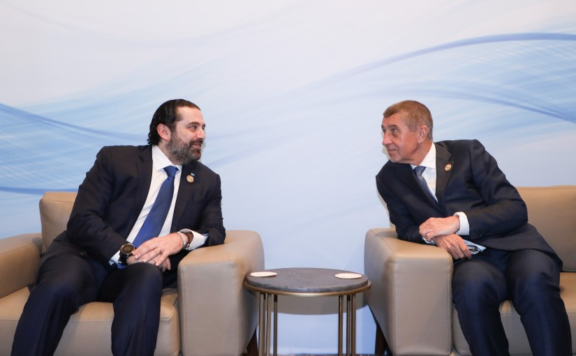 Pr Minister Saad Hariri meets Cheks Pr Minister Saad Hariri