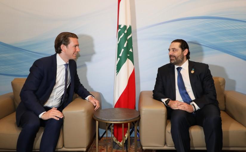 Pr Minister Saad Hariri meets Pr Minister of Austria