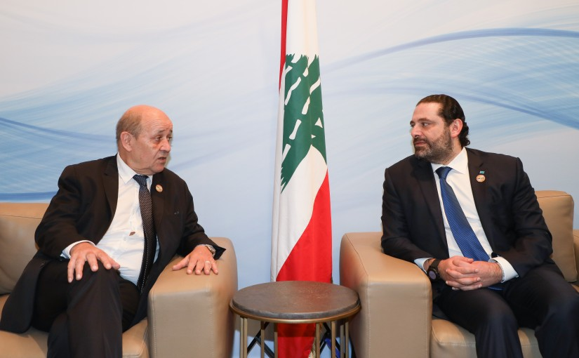 Pr Minister Saad Hariri meets French Minister of Foreign affairs