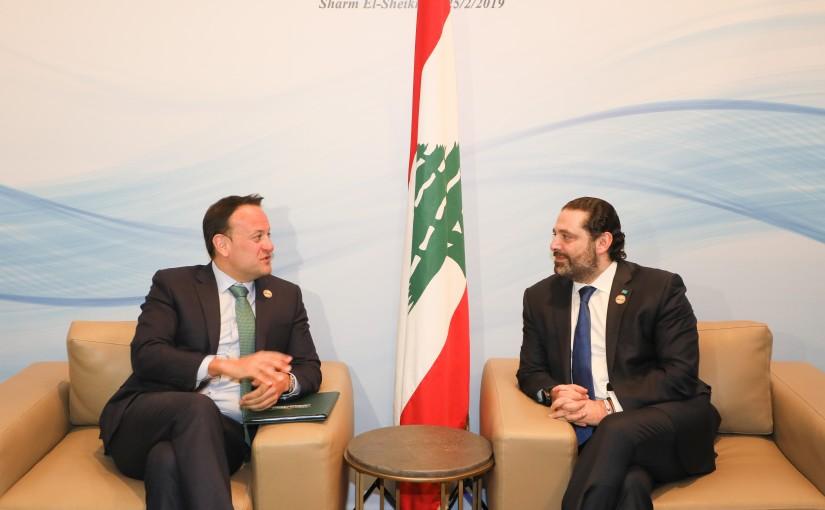 Pr Minister Saad Hariri meets Pr Minister of Ireland