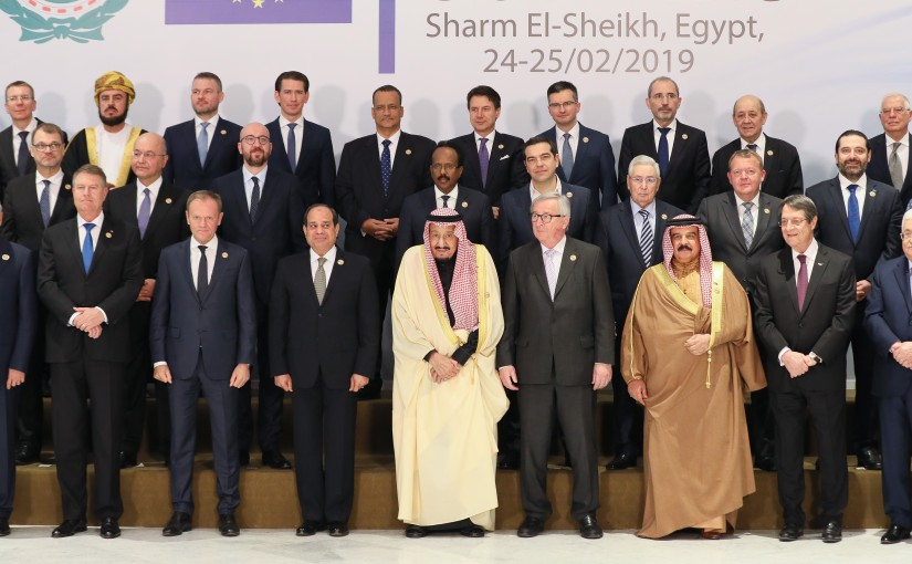 Family Photo for European Arab Summit