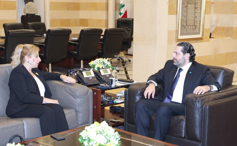 Pr Minister Saad Hariri meets Ambassador Sahar Beassiri