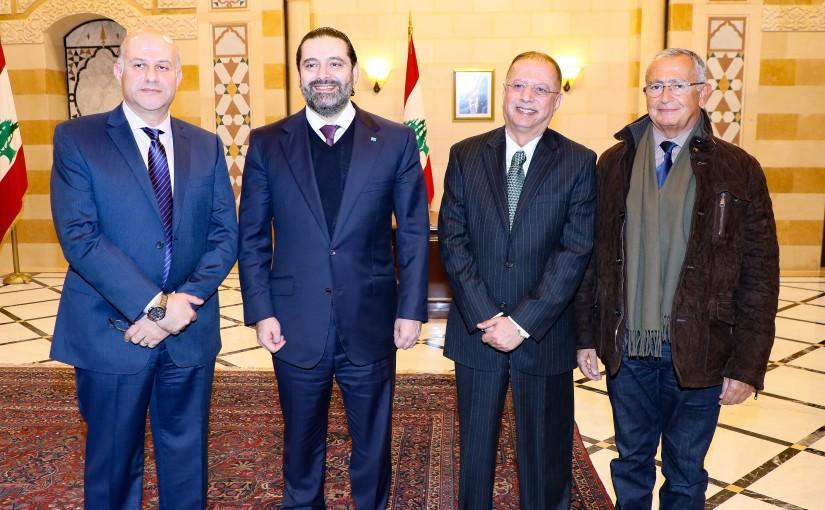 Pr Minister Saad Hariri meets a Kuwaiti Delegation
