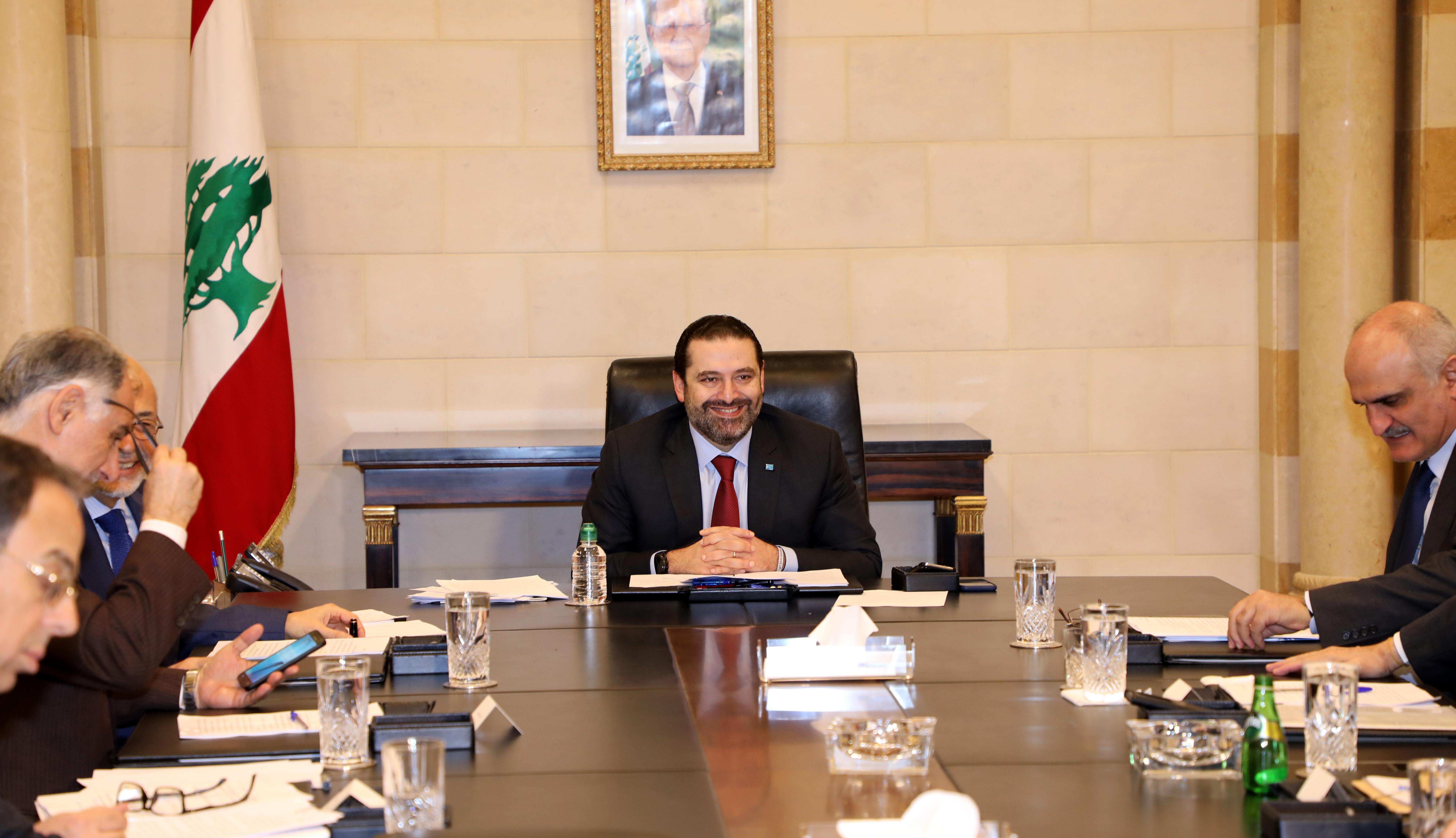 Pr Minister Saad Hariri Heading a Ministerial Cpuncil 2