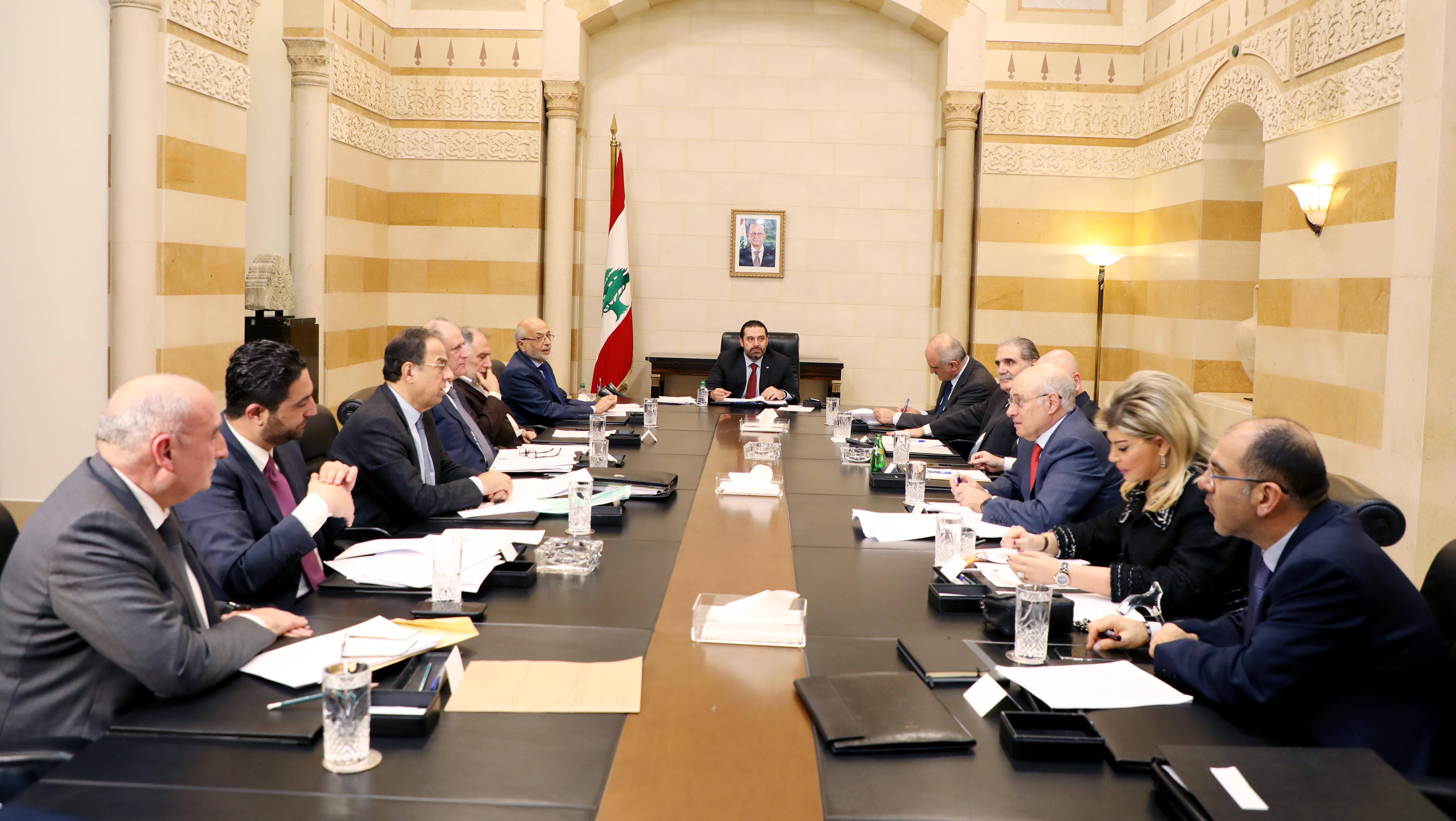 Pr Minister Saad Hariri Heading a Ministerial Cpuncil.jpg 1