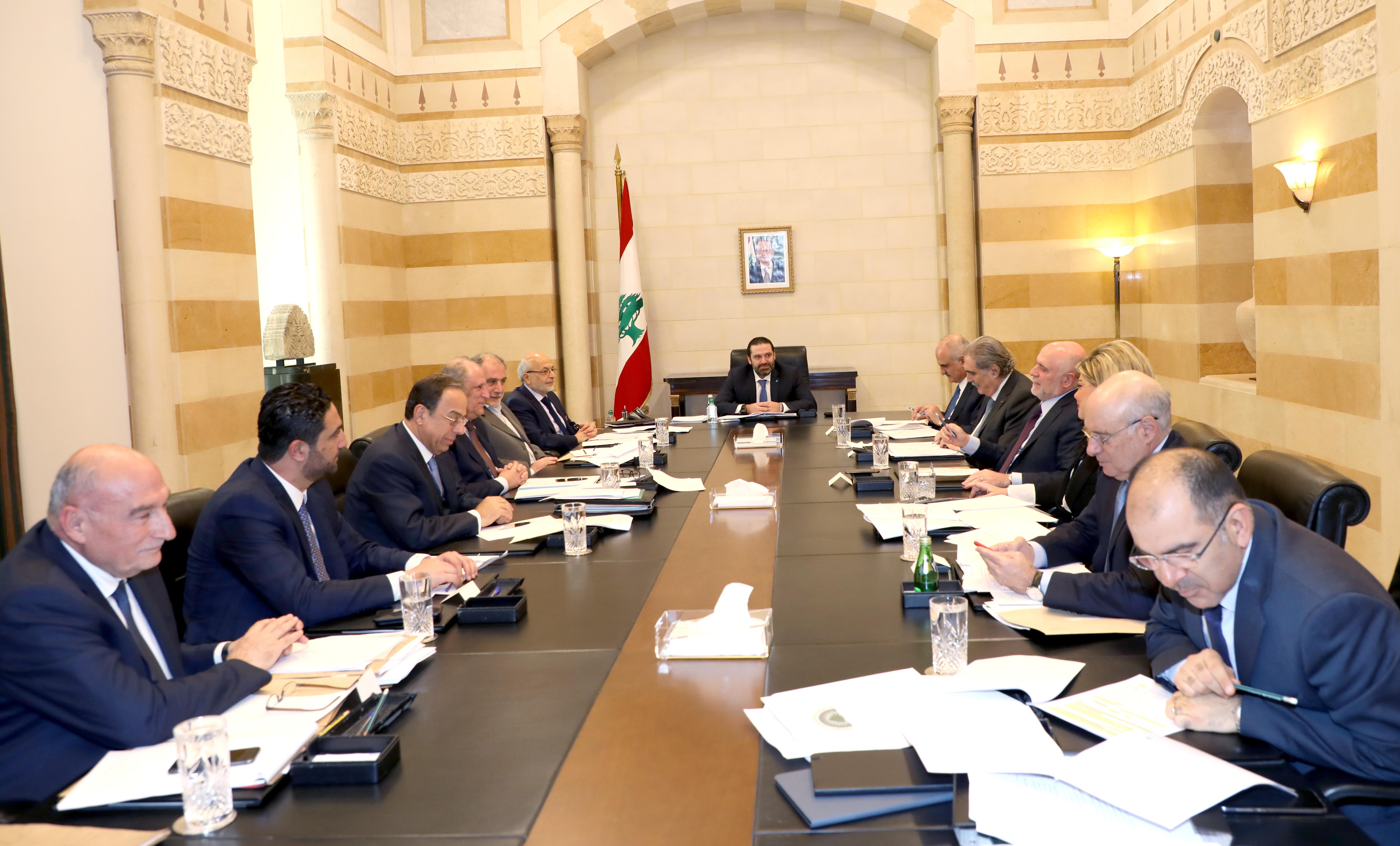 Pr Minister Saad Hariri Heading a Ministerial Meeting 1