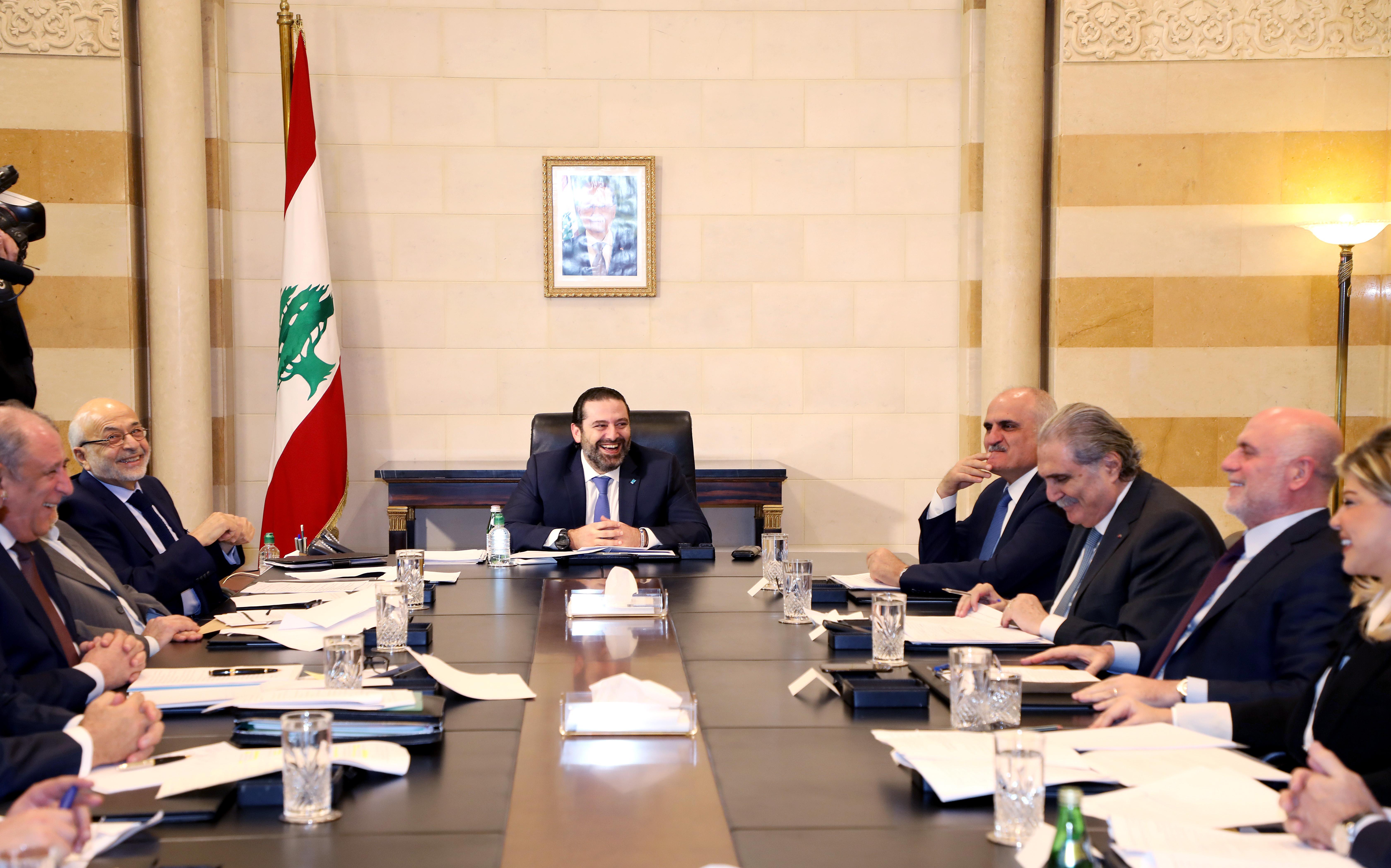Pr Minister Saad Hariri Heading a Ministerial Meeting