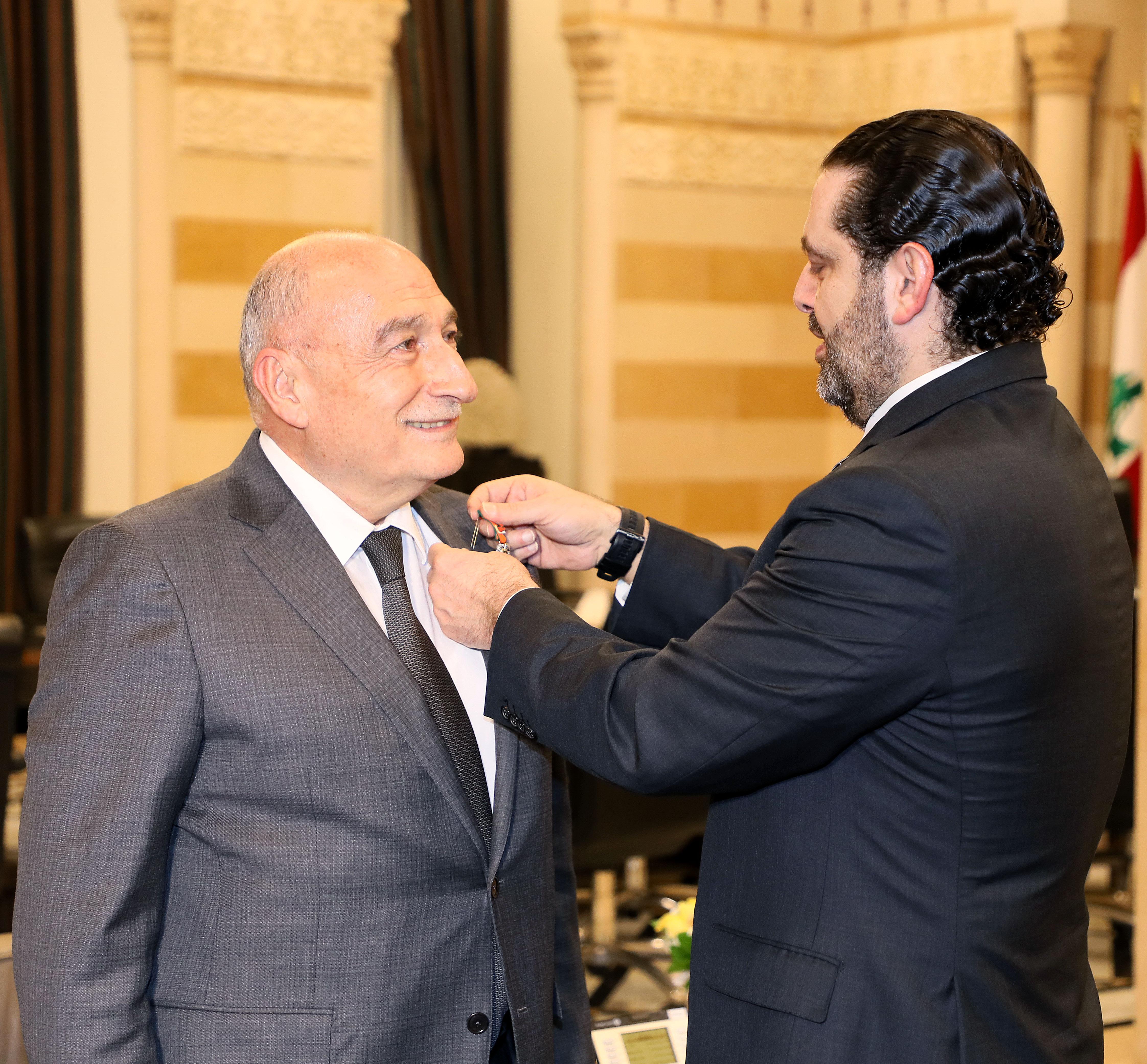 Pr Minister Saad Hariri Honors Mr Fouad Fleifel