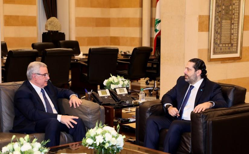 Pr Minister Saad Hariri meets Former Minister Jean Oghasapian