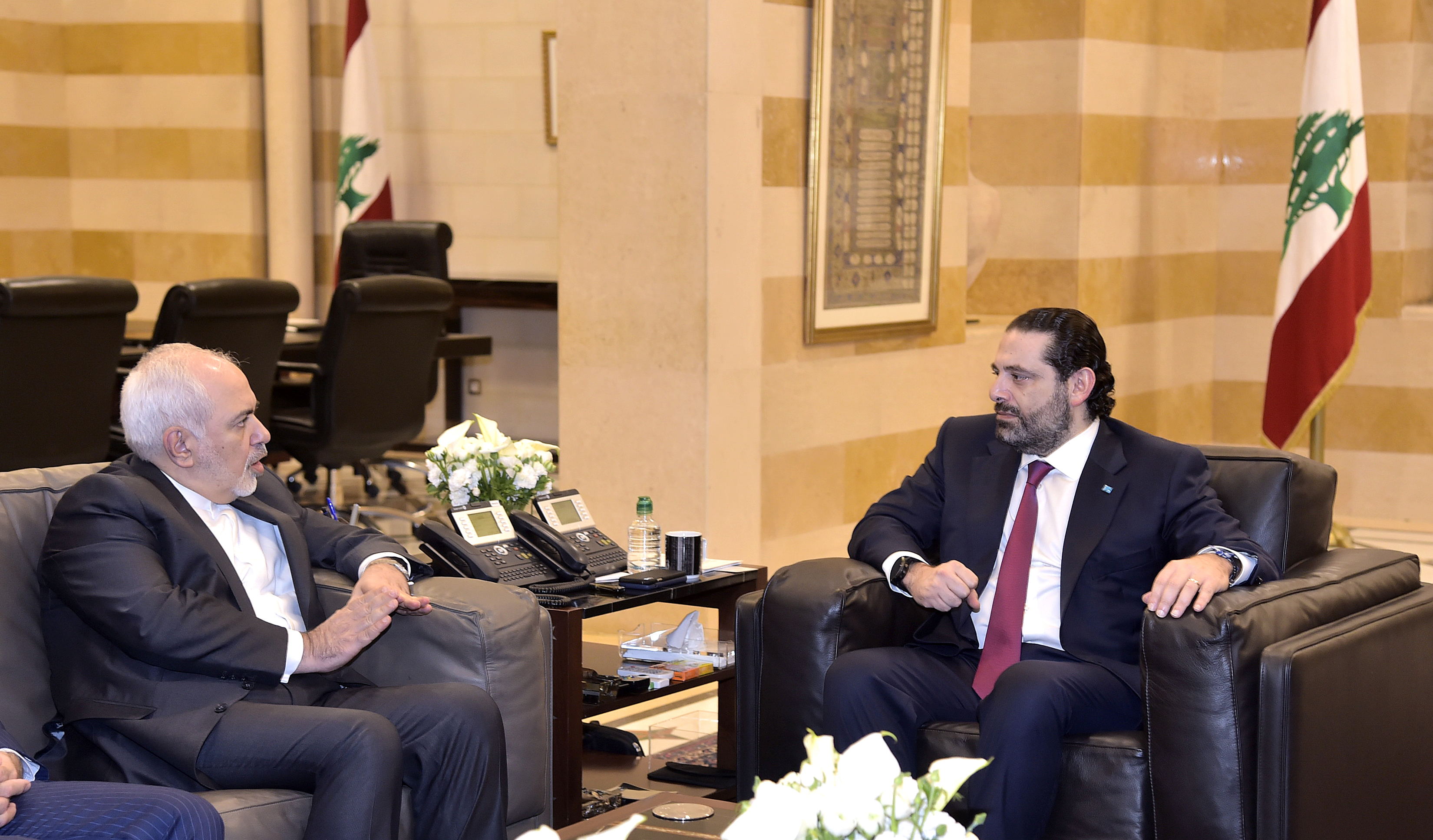 Pr Minister Saad Hariri meets Iranian Minister of Foreign Affairs