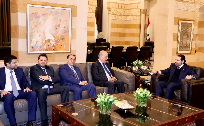 Pr Minister Saad Hariri meets Judge Ghaleb Ghanem with a Delegation