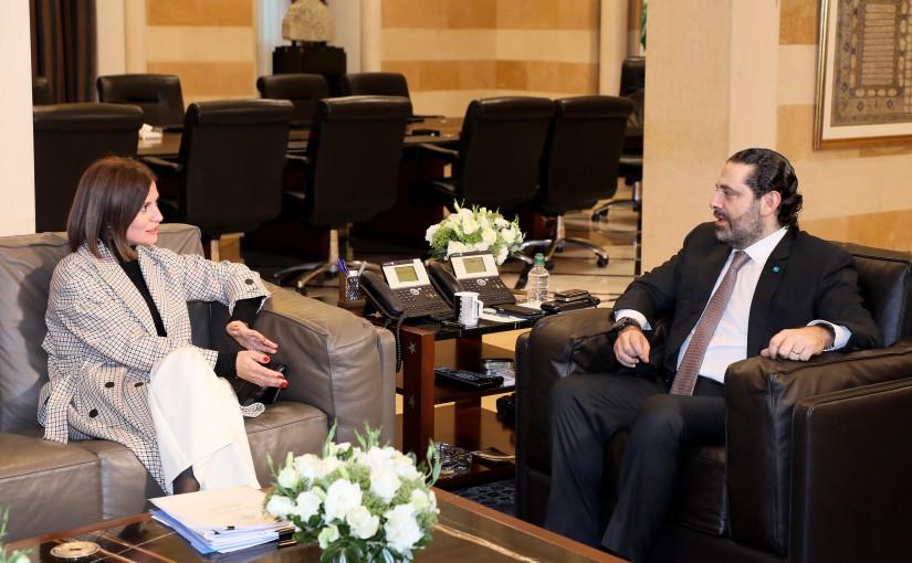 Pr Minister Saad Hariri meets Minister Nada el Boustani