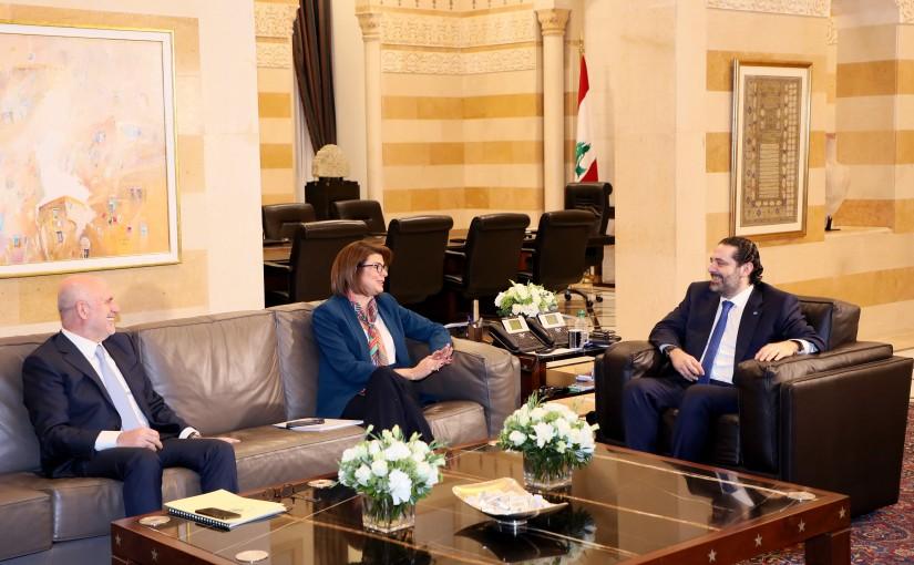 Pr Minister Saad Hariri meets Minister Raya el Hassan & Minister Youssef Phenianos