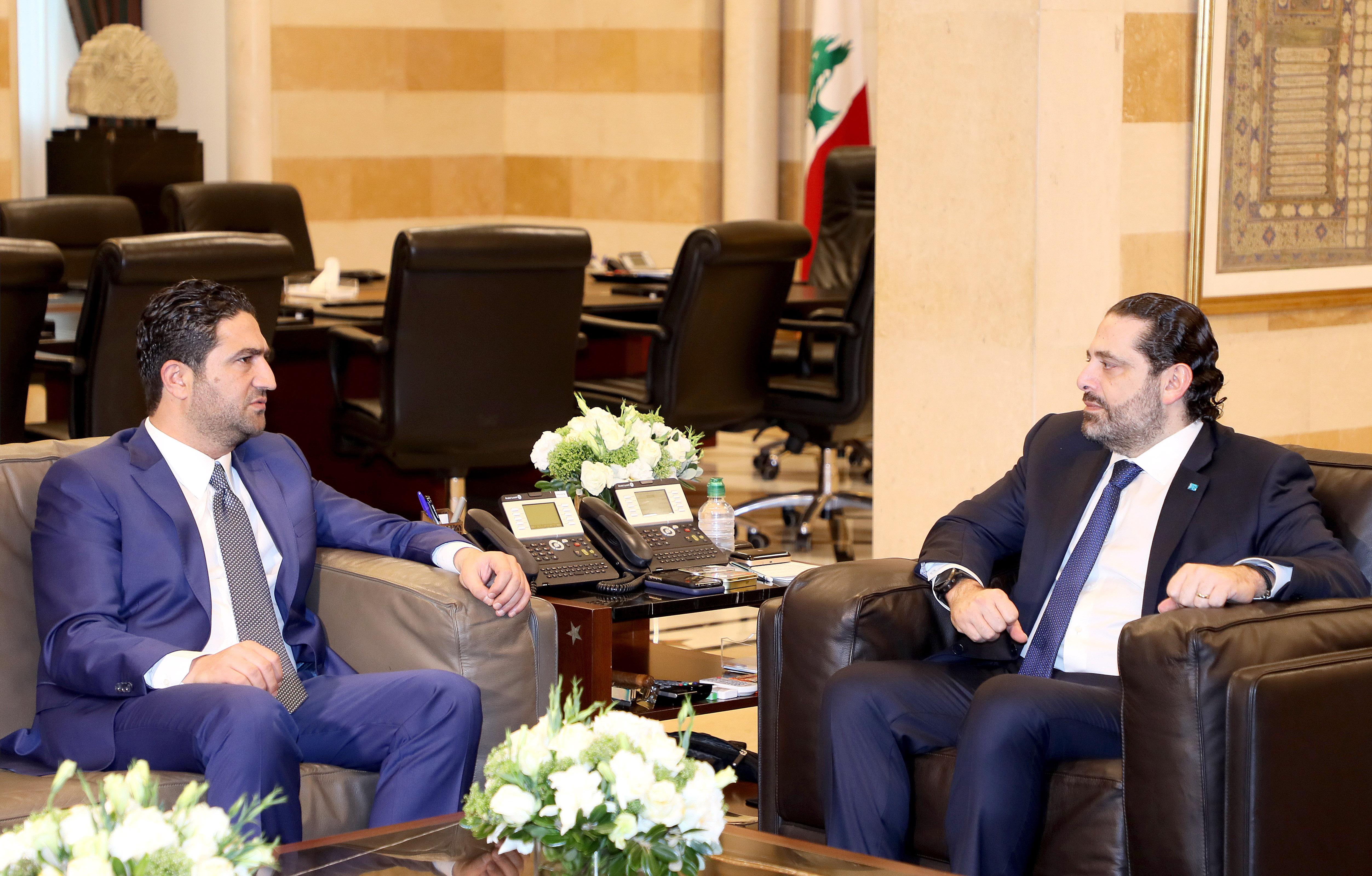 Pr Minister Saad Hariri meets Minister Saleh al Gharib