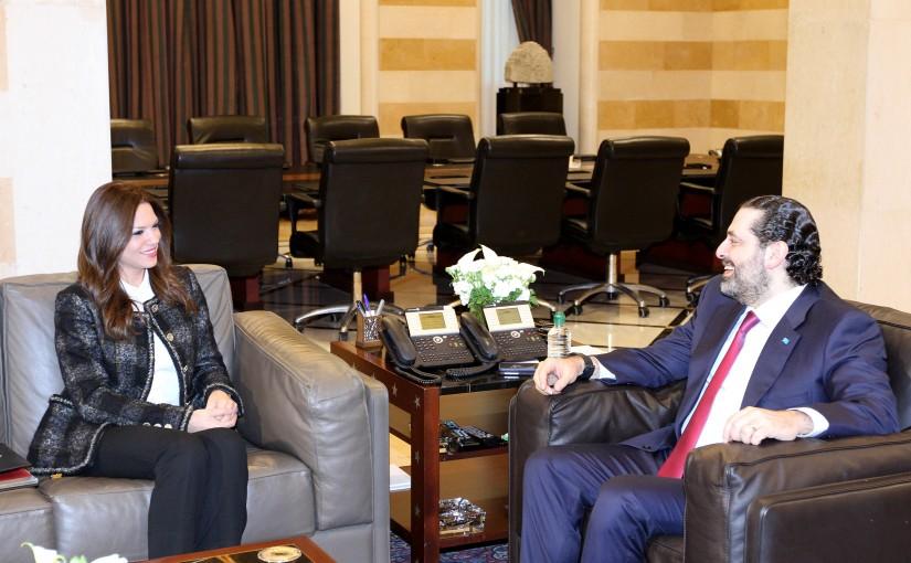 Pr Minister Saad Hariri meets Minister Violete Safadi