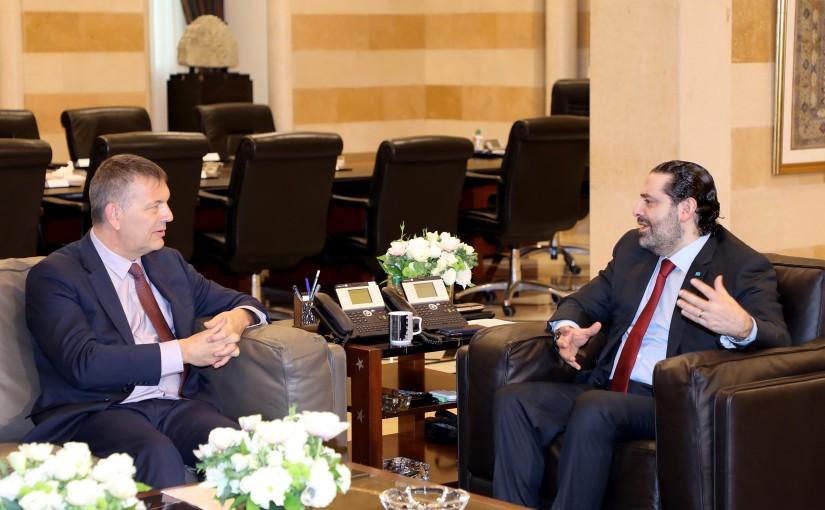 Pr Minister Saad Hariri meets Philipe Larazini