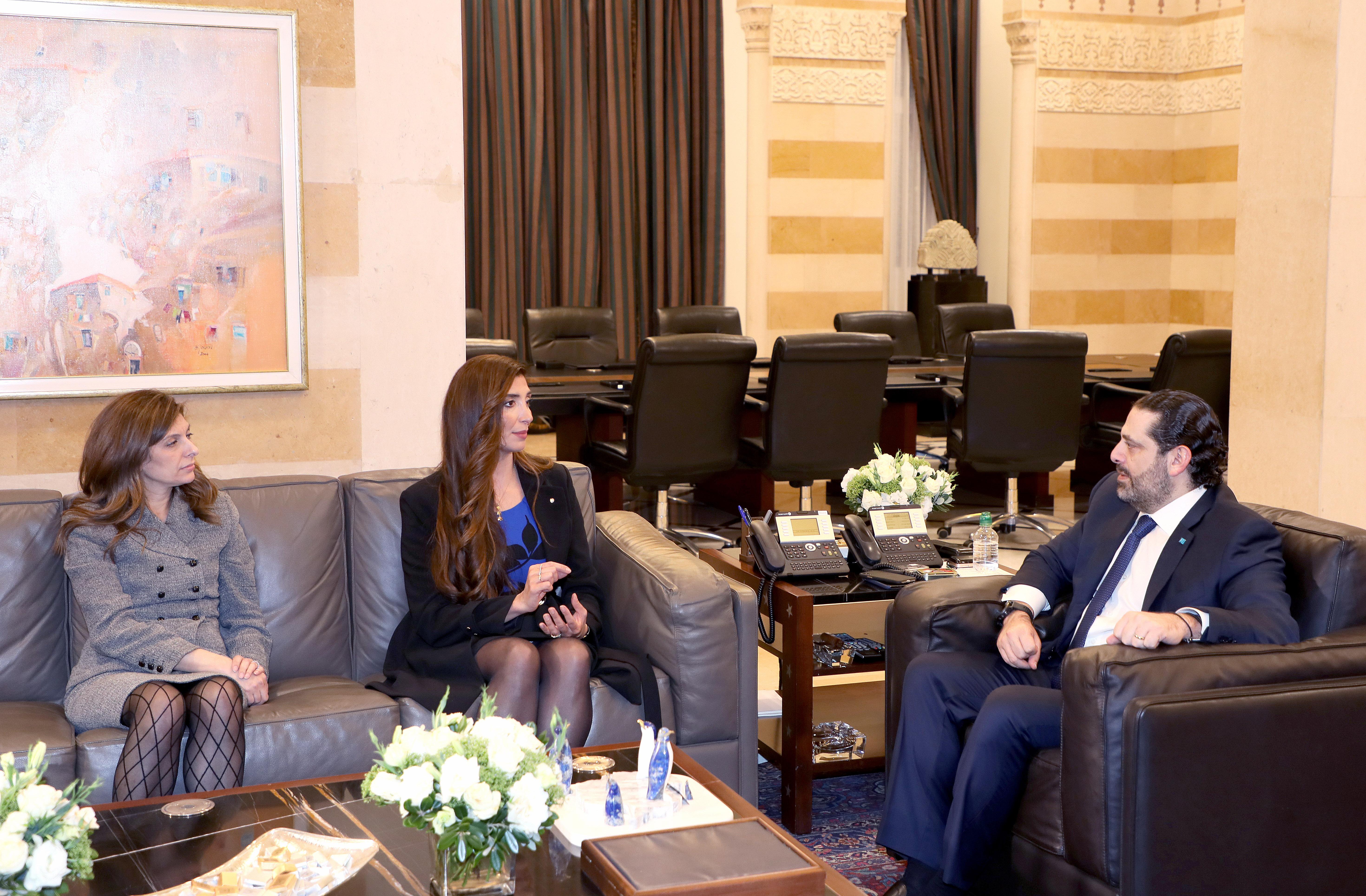 Pr Minister Saad Hariri meets Mrs Joyce Azam