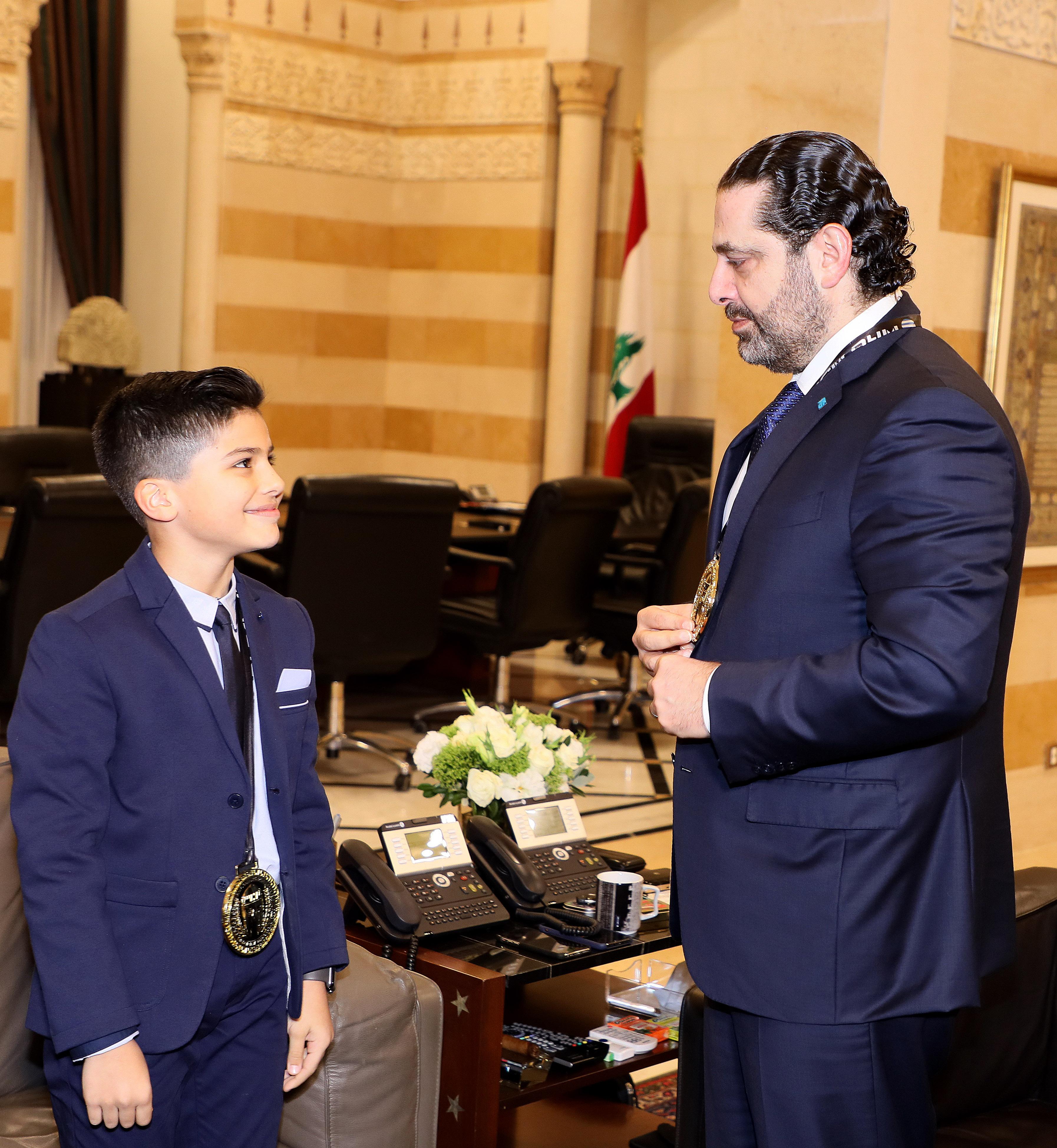 Pr Minister Saad Hariri meets Saaeb Diab with a Delegation 1
