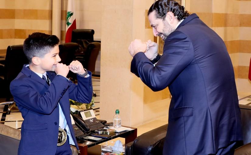 Pr Minister Saad Hariri meets Saaeb Diab