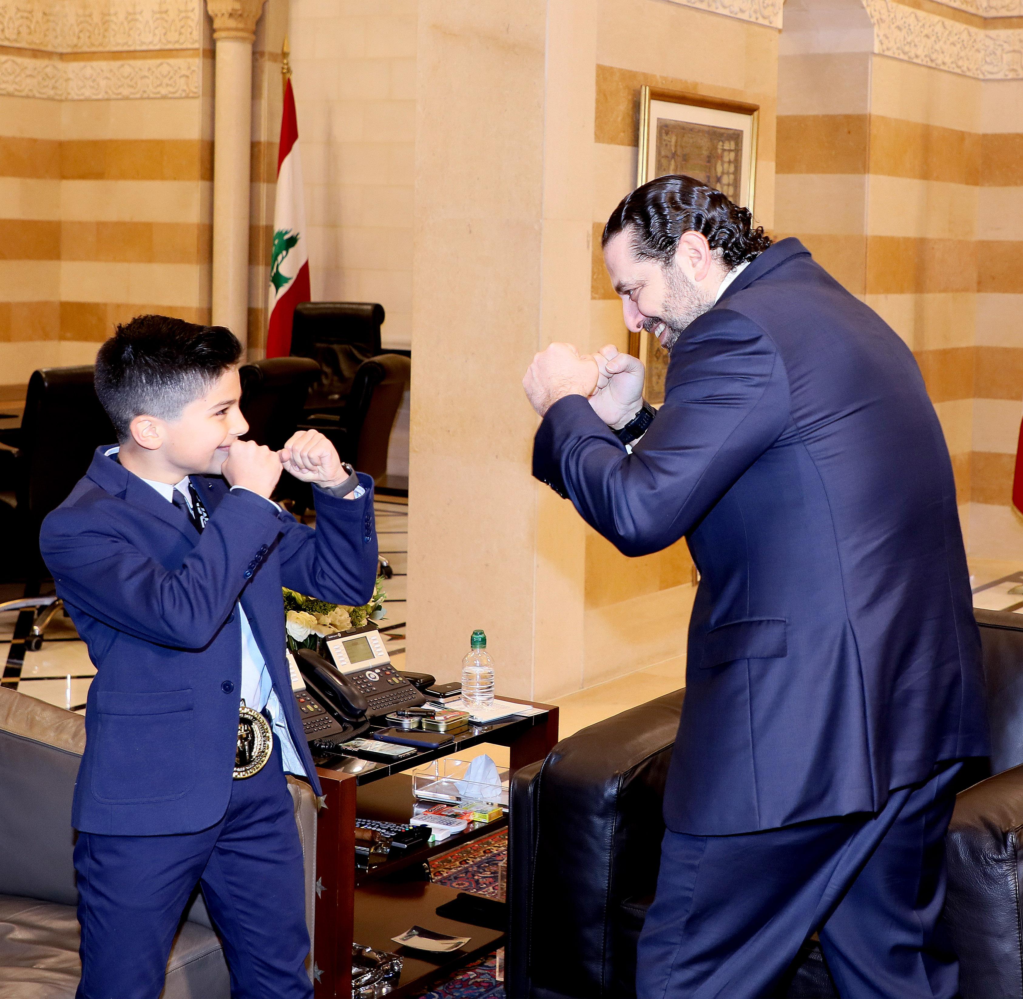 Pr Minister Saad Hariri meets Saaeb Diab with a Delegation 3