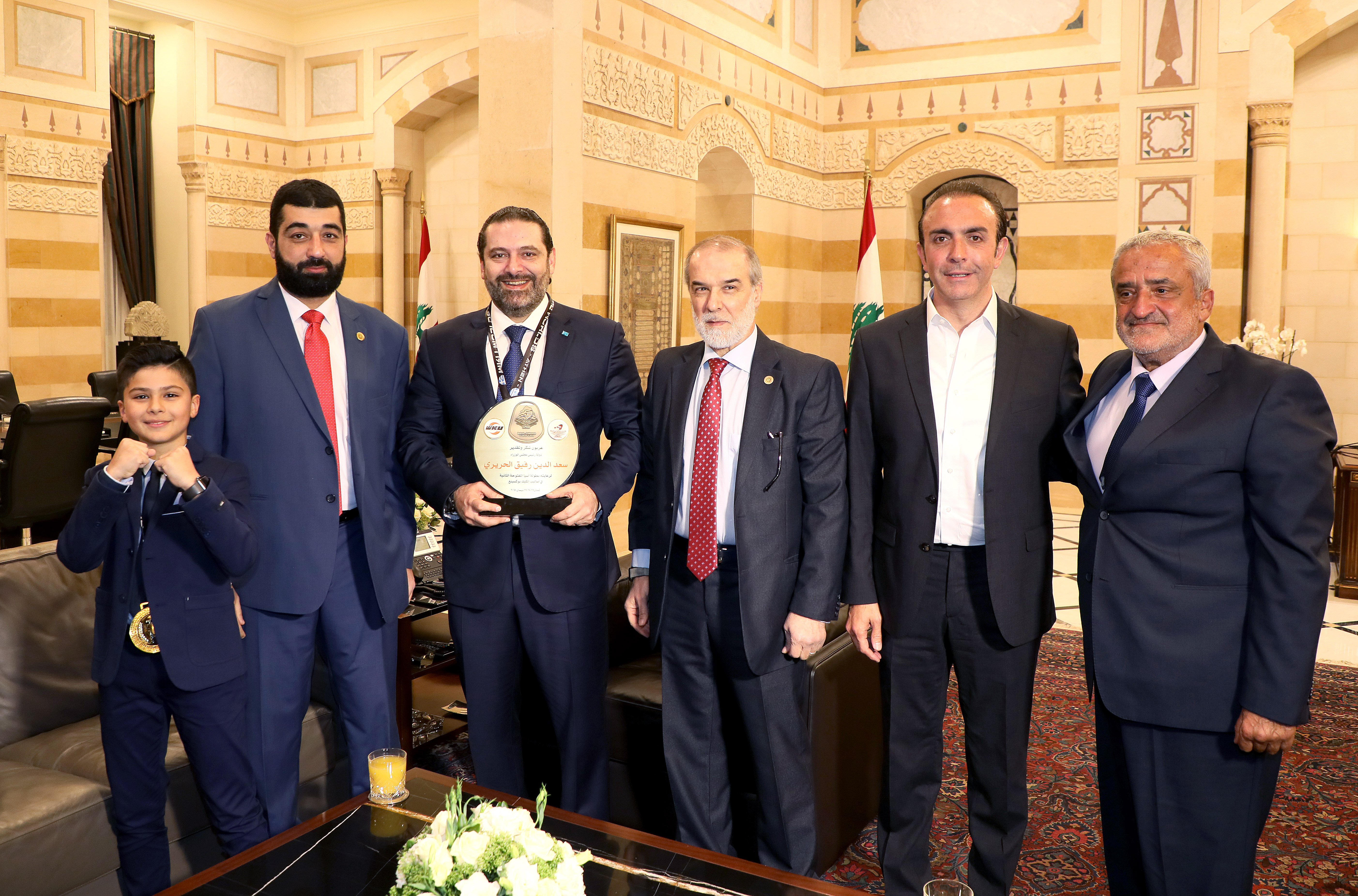 Pr Minister Saad Hariri meets Saaeb Diab with a Delegation