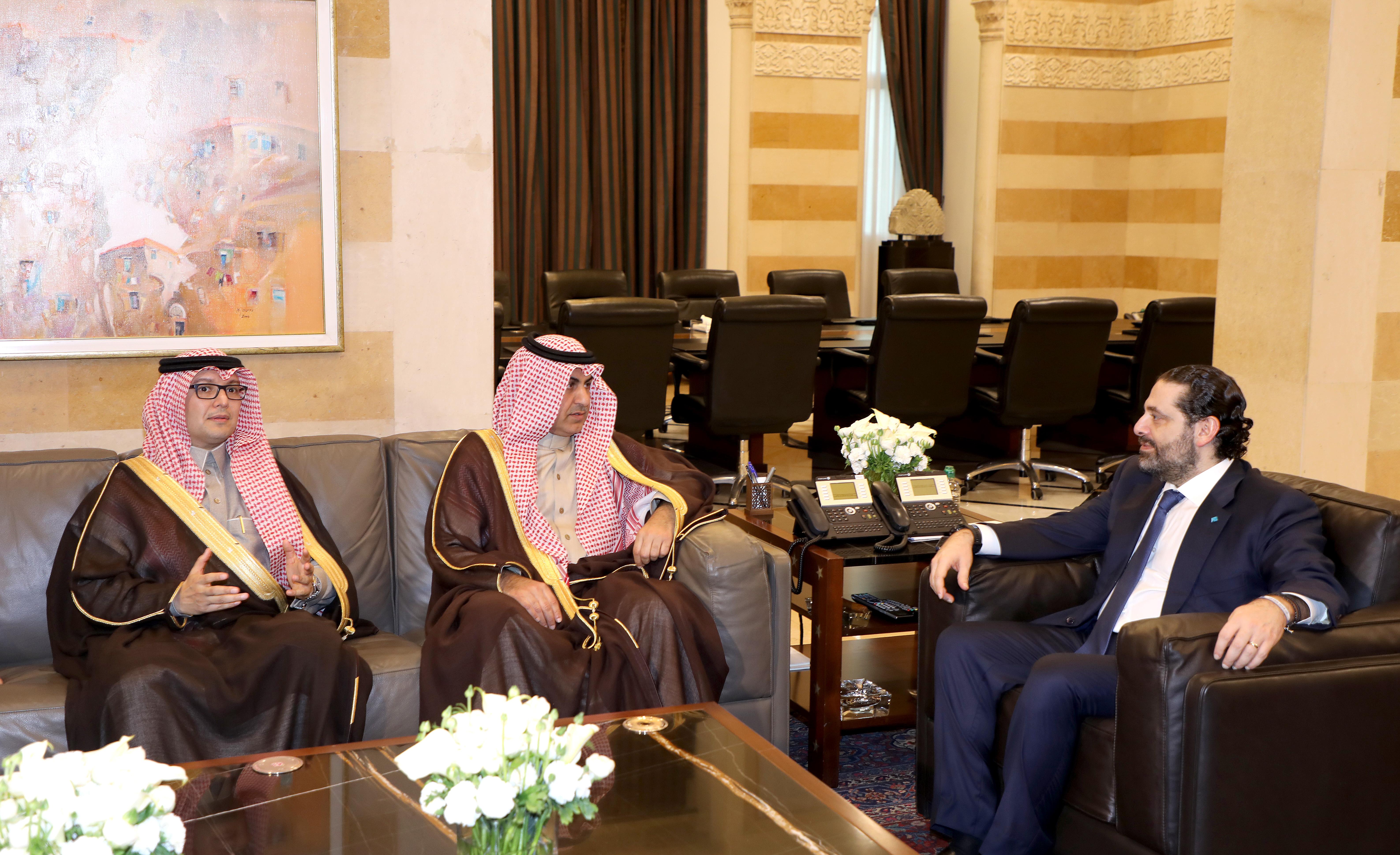 Pr Minister Saad Hariri meets Saudi Minister Nizar el Aloula 1