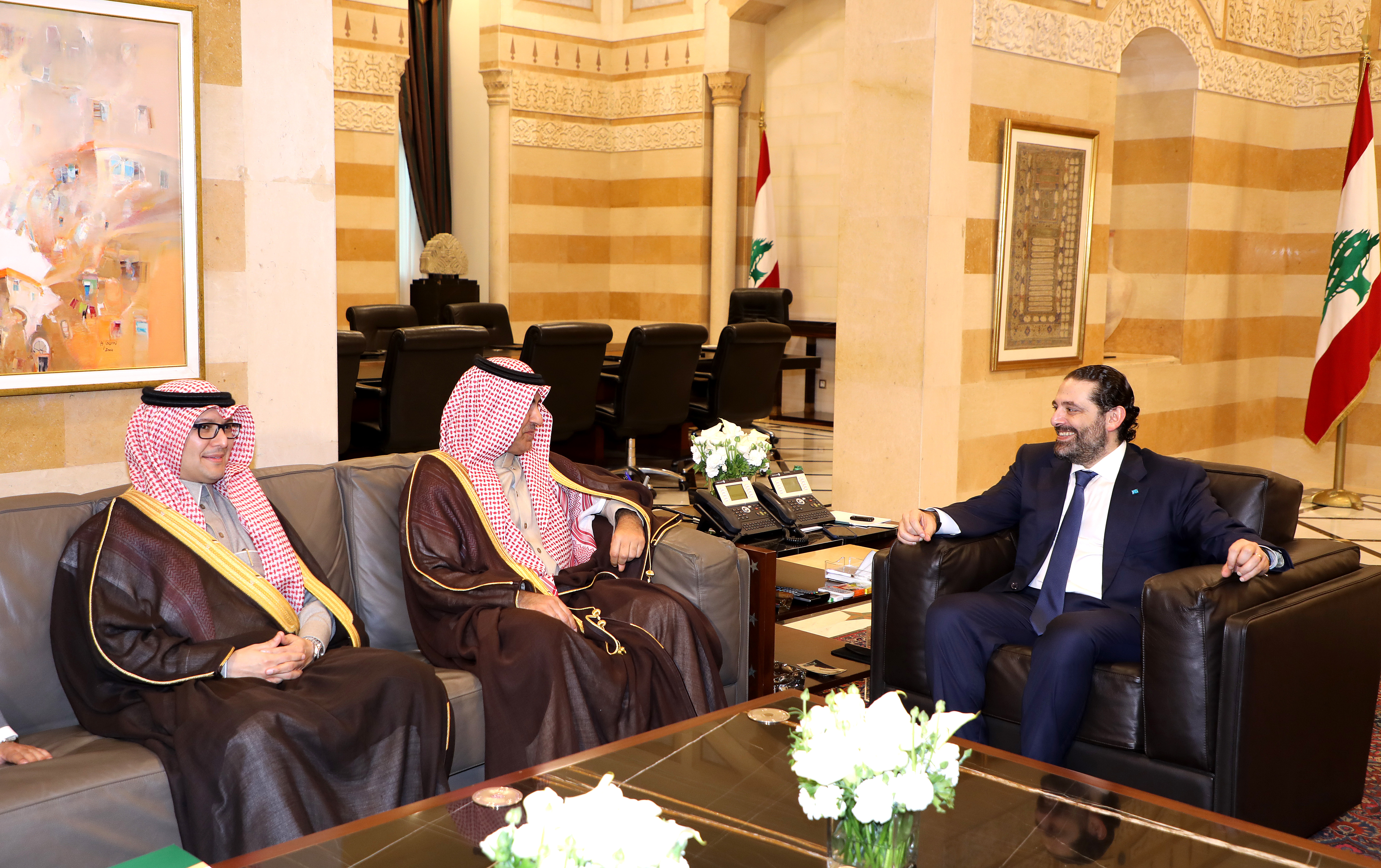 Pr Minister Saad Hariri meets Saudi Minister Nizar el Aloula  2