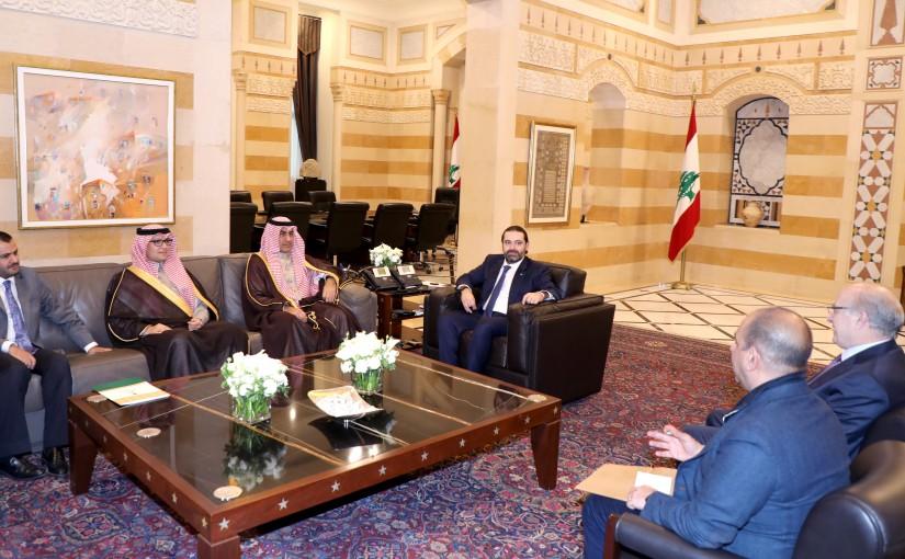 Pr Minister Saad Hariri meets Saudi Minister Nizar el Aloula