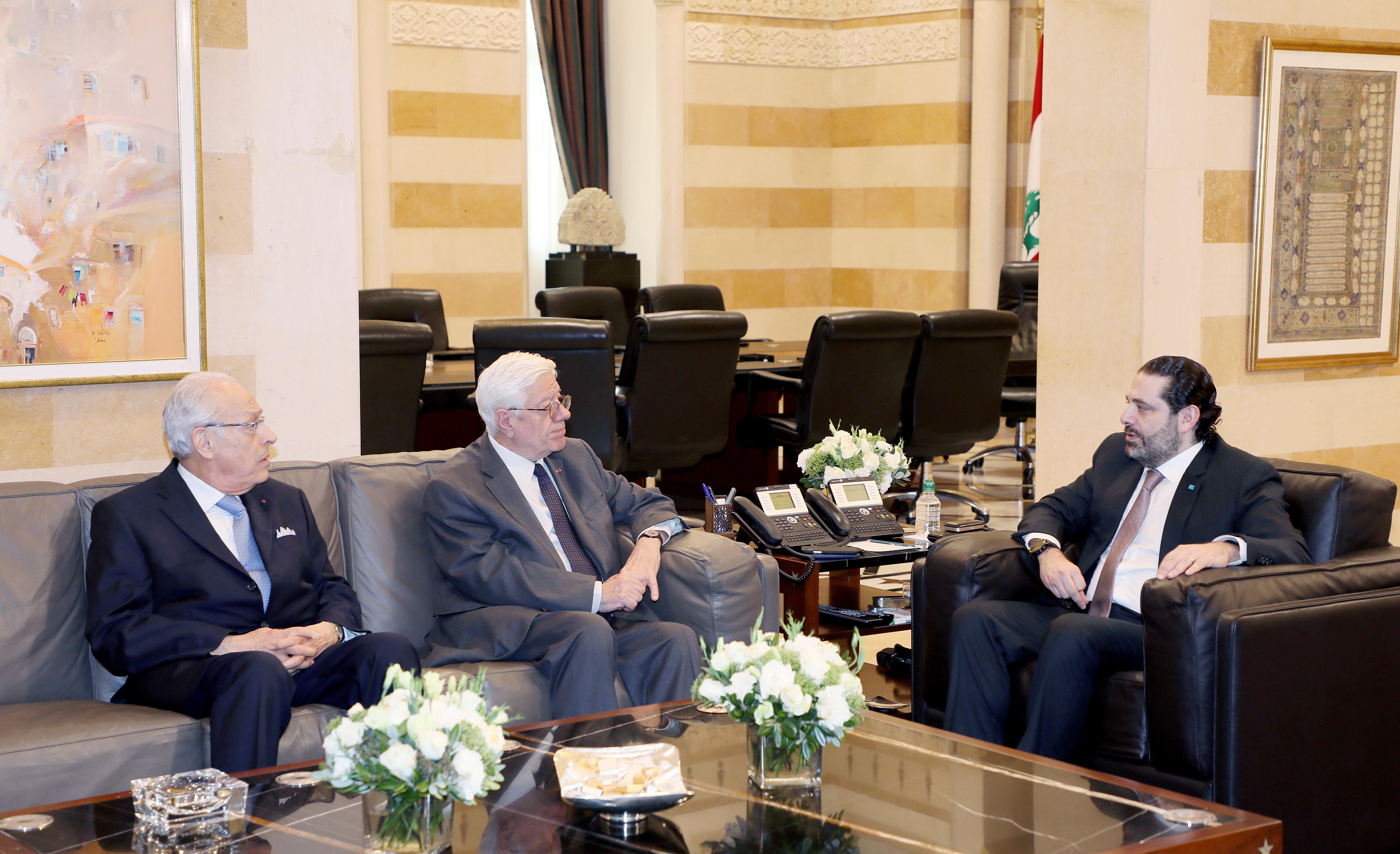 Pr Minister Saad Hariri meets a Delegation from Ordre de Malt