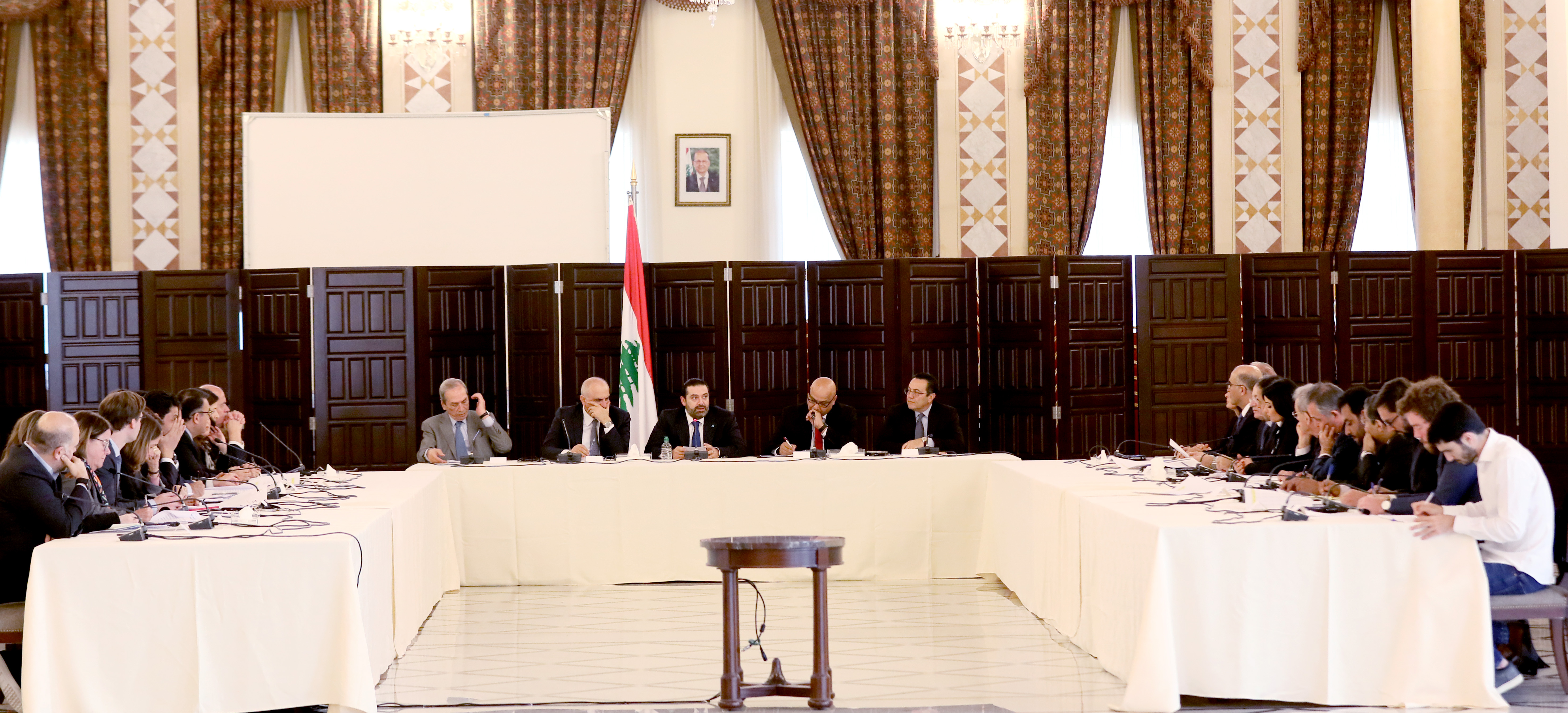 Workshop for Pr Minister Saad Hariri at Grand Serail  3