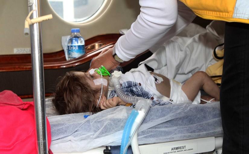 recieving the newborn child Ahmed Othman at Rafic Hariri Beirut Airport
