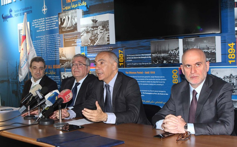 Ministers Wael abou Faour & Youssef Fenianos Visit Beirut Port