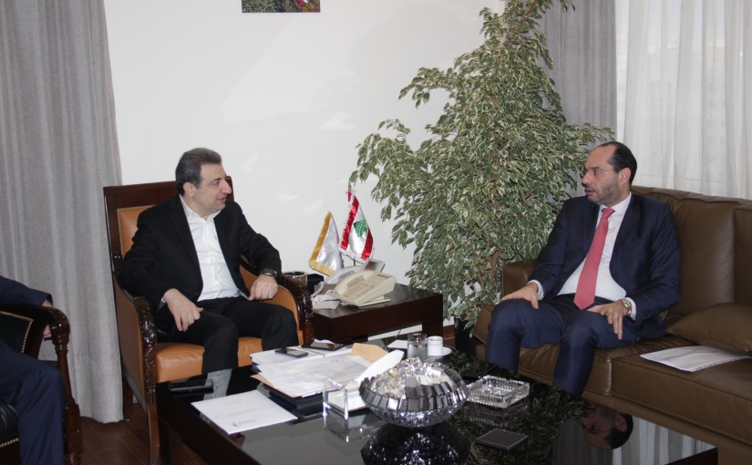 Minister Wael abou Faour meets Minister Hassan Mourad
