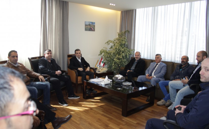 Minister wael abou Faour meets a Delegation from Ain Dara Municipality