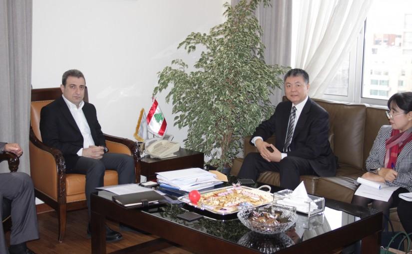 Minister Wael abou Faour meets Chinese Ambassador