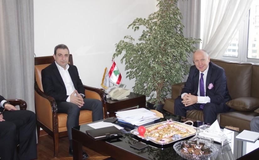 Minister Wael abou Faour meets Ukraine Ambassador