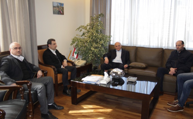 Minister wael abou Faour meets a Delegation from Ain Dara